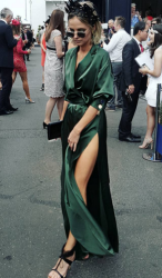 Nadia Fairfax - I just love the green of this dress