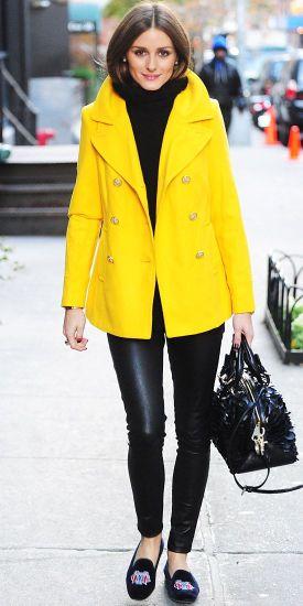 Olivia bringing it in a coat