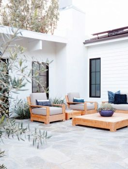 Don't neglect your outside spaces. In the summer use your outside as additional living areas. Make them cosy with pillows and cushions.