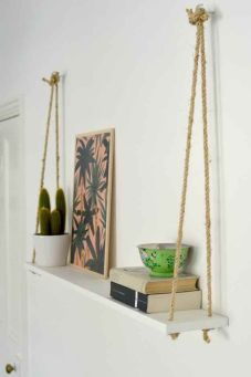 Mix in small items from the coast like this arty piece of palm leaves.