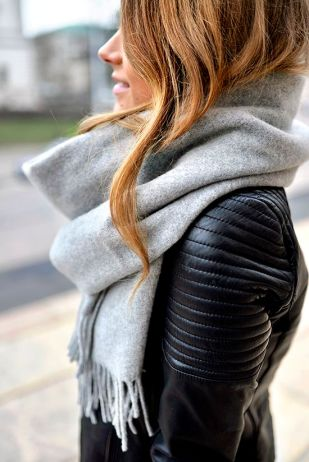 wool and leather - another textural fantasy